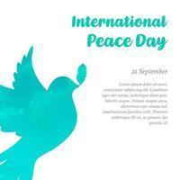 Modello per la giornata internazionale della pace