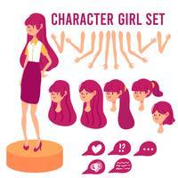 Mädchen Zeichensatz