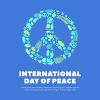 Diseño del día internacional de la paz