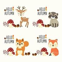 Hallo herfst bos dieren set