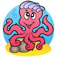 Tecknad stil bläckfisk