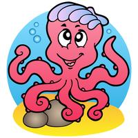 Cartoon stijl Octopus