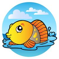 Cartoon Style Yellow Fish