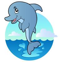 Cartoon Style Dolphin