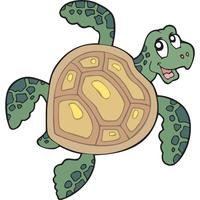 Cartoon Style Turtle