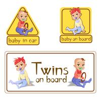 Car stickers baby on board