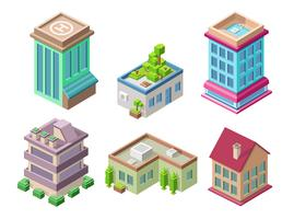 Isometric 3D buildings