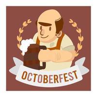 Octoberfest viering oude man bedrijf bier banner