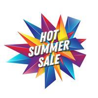 Diseño de banner de texto de venta de verano caliente