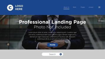 Página de aterrizaje profesional