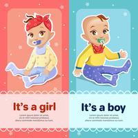 Diseño de tarjeta de felicitación de baby shower para recién nacidos