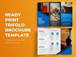 Klaar Afdrukken Driebladige Brochure Template
