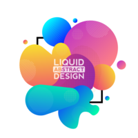 modern liquid abstract vector design