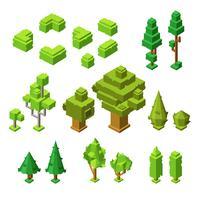 3D isometrische Bäume