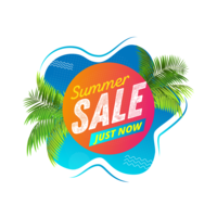 Summer sale abstract liquid design template