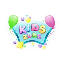Vector cartoon kinderen zone poster sjabloon