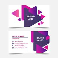 Color gradient geometric business card template