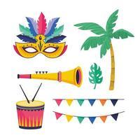 Ensemble d'objets de fête de carnaval