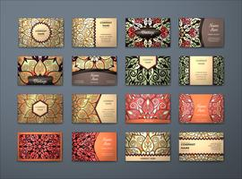Colorful Vintage Business Cards Collection