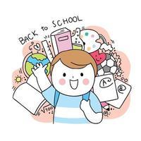 terug naar school jongen