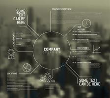Infográfico de visão geral da empresa de meio urbano