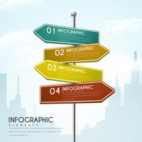 Direction Signs Creative Infographic Design