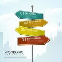 Richting tekenen creatief Infographic ontwerp