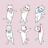 gato bailando vector