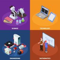 Concepto de diseño de educación STEM