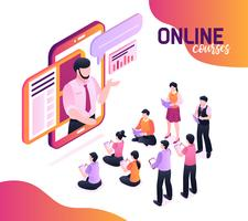 Concetto isometrico di corsi online
