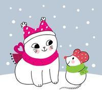 rato e gato de inverno