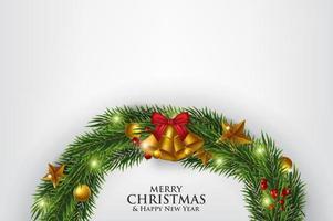 Weiße frohe Weihnacht-Karte
