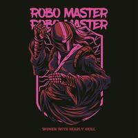 robot master illustration tshirt design