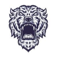 diseño de camiseta de ilustración de vector de tigre