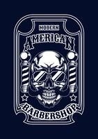 barbershop skalleillustration tshirt