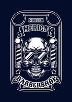 salon de coiffure illustration de crâne tshirt