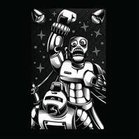 Wrestler-Schwarzweiss-Illustrationst-shirt Entwurf