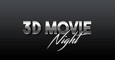 Vetor de tipografia 3D com estilos de filme