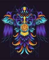 geometric owl illustration