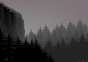 landskap vektorillustration