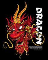 ilustração de cabeça de dragão