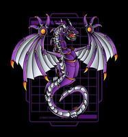Ilustración de robot dragón
