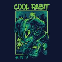 illustration de lapin t-shirt vector illustration