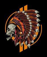 ilustração do crânio apache