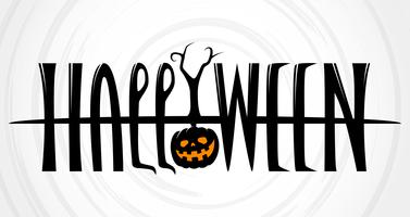 Halloween Text Banner on white background vector