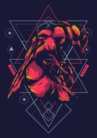 diseño de camiseta de ilustración de vector de insecto