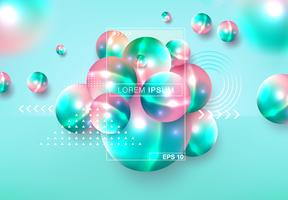 3D spheres abstract background vector