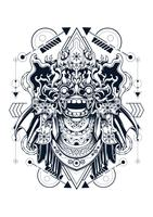illustration vectorielle de barong