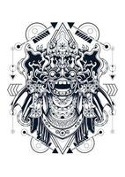 Ilustración de vector de barong