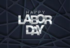 Geometriska Labor Day Card